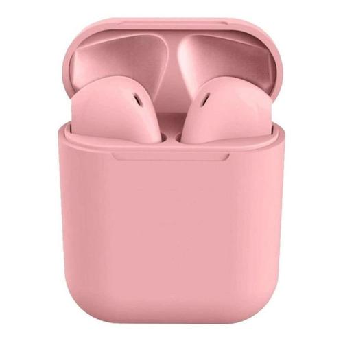 Audífonos In-ear inalámbricos i12 TWS rosa