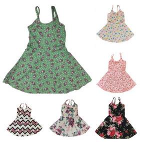 Kit 04 Vestido Infantil Menina Estampados Roupas Atacado