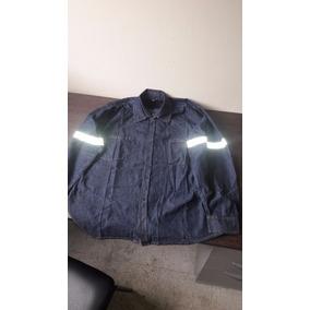 Camisa De Trabajo De Jean Liviano Con Franja Reflectiva