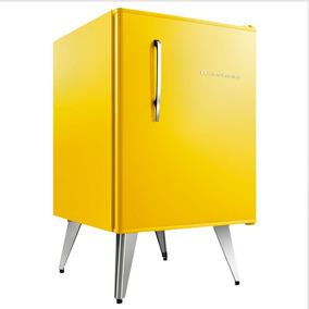 Frigobar Brastemp Retrô 76 Litros Amarelo 110v - Bra08by