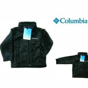 Poleron Columbia Original Niño Talla 10-12 Cod 011 (negro)