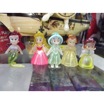 Coleccion De 5 Mini Figuras De Princesas De Disney