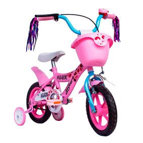 Bicicleta Infantil Para Niña Rodada 12 Timbre De Regalo