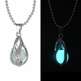 Collar Fluorescente Luminoso Lagrima Ángel Brilla Obscuridad