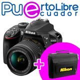 Nikon D3400 Profesional - 24.2mp + Lente + Memoria + Estuche