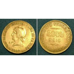 Moeda Antiga 2000 Réis 1907