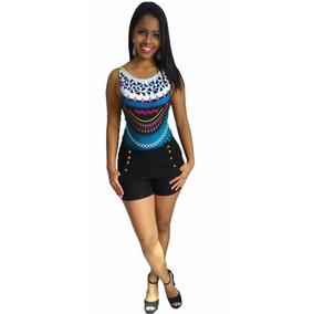 Body Bory Anitta Decote Estampa Étnica Costa Nua Verao 2017