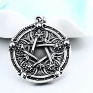 Collar Amuleto Pentagrama En Acero
