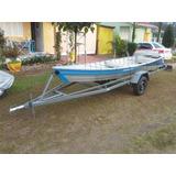 Reboque Com Barco Piramirim E Motor Mercury 5.0
