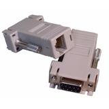 Adaptador / Extensor Serial Db9 Macho Para Rj45 Femea