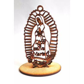 Virgen De Guadalupe Recuerdo Bautizo Comunión Madera Cruz