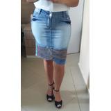 Saias Midi Evangélicas Jeans Lançamento Kit 6 Peças