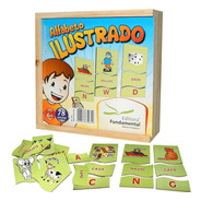 Jogo Pedagógico Alfabeto Ilustrado 78 Peças