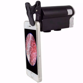 Microscópio Lupa 60x A 100x Luz Ultravioleta Clip Celular