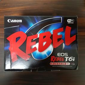 Camera Canon Eos Rebel T6i Kit 18-55 Stm + Sd 16gb 90mb/s