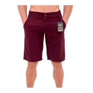 Bermuda Masculina De Sarja Casual Colors Bordo