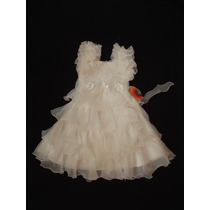 Vestido Infantil Fru-fru Princesa/daminha/florista Off White