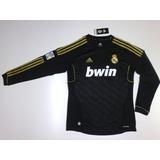 Camiseta Real Madrid Alt Negra M/l Nº 7 Ronaldo Tallel 54x71