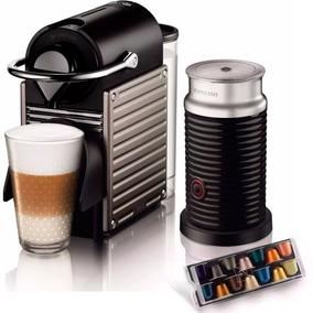 Cafetera Nespresso Pixie Titan + Aeroccino + Cápsulas