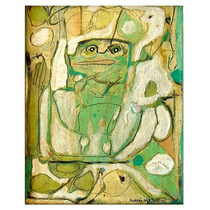 Pintura R Hurtado, Vegetal, 1965, Óleo /tela, 25x20cm Arte