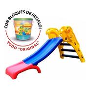 Tobogan Infantil Plástico Elefantito Rodacross + Bloques Did