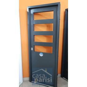 Puerta de chapa para patios aberturas puertas exteriores for Puertas de chapa para exterior