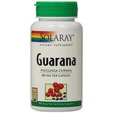 Solaray Guarana Cápsulas, 400 Mg, 100 Cantidad