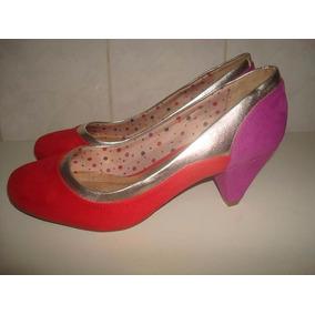 Sapato Multicolor Camurça Marca Beira Rio Conforto - Nº 37
