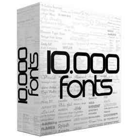 Pack 10.000 Fonts Para Corel Photoshop Ilustrator Windows