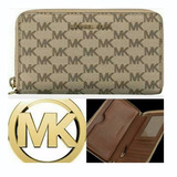 Billetera / Porta Celular Michael Kors Original Cafe 8305