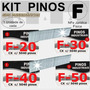 Kit Com 4 Caixas Pino 5000 Cada Pinador F20,f30,f40,f50 -