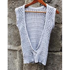 Crochetchile Polera Playa Gris Talla S, Nueva. Envío Gratis
