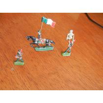 3.- Antiguos Soldados De Plomo Mexicanos