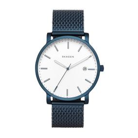 Reloj De Hombre Skagenhagen En Acero Inox Azul