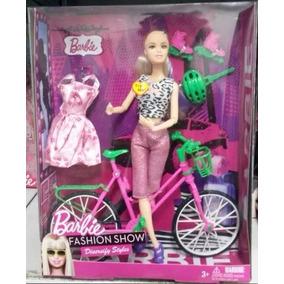 Kit Barbie Importada Patins Bicicleta Roupa Sapato