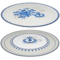 Pratos Para Pizza Blue Dream - Finecasa - Em Porcelana