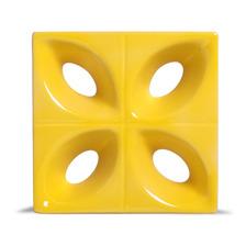 Cobogó Pétala Cerâmico Esmaltado Amarelo 20x20x8 Cm