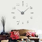 Moyo Moderno Mute Frameless 3d Gran Bricolaje Reloj De Pared