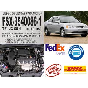 Juego Junta Empaque Honda Civic 2001 A 2005 Envio+gratis