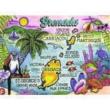Imán De Recuerdos De Granada Caribe Nevera Collector 2.5 X