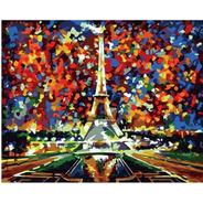Lienzo Pinta Por Números Torre Eiffel París Grupo Educar