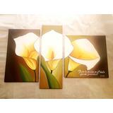 Cuadros Tripticos Florales Con Frases A Eleccion Calas
