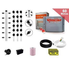 Kit Cerca Eletrica Industrial 60m C/ Big Hastes Com Cantos