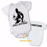 Body Infantil Jiu-jitsu Competidor Personalizado Com Nome!