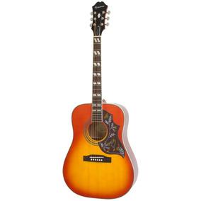 Violão Folk Epiphone Slim Hummingbird Pro, Cherry Burst - E