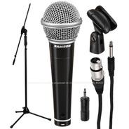 Pack Microfono Samson R21s Premium Cable Pipeta Pie Plegable