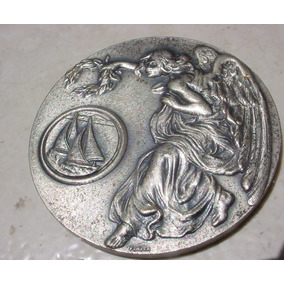 Antiga - Medalha De Niquél Do Clube Regatas Tietê 1961 !!!