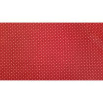 Tnt Estampado 1,40 M, 40 G Mini Poa Vermelho C/branco 10mts