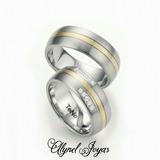 Anillos De Matrimonio Plata Con Oro