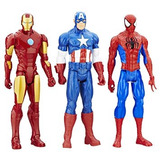 Muñecos Titan Héro Series Hasbro 30cm Spiderman Iron Thor